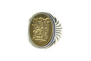 Decorative Initial Signet Ring - Signet Ring - Backtozero