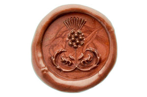 3D Thistle Wax Seal Stamp