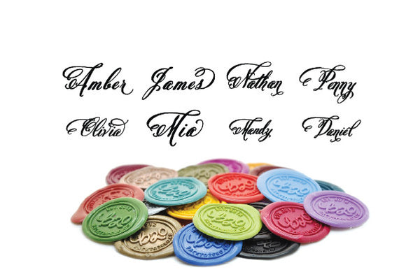 Personalized Swirl Calligraphy Wax Seal Stamp, Backtozero  - 1