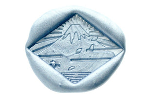 Wabisabi Mt Fuji with Sun Wax Seal Stamp Designed by Hana.T - Wax Seal Stamp - Backtozero