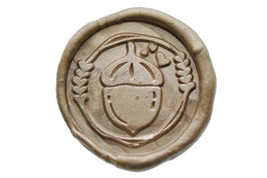 Acorn Wreath Wax Seal Stamp Designed by Petra - Wax Seal Stamp - Backtozero