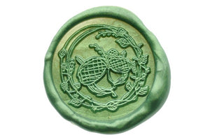 Autumn Acorns Wax Seal Stamp Designed by Petra - Wax Seal Stamp - Backtozero