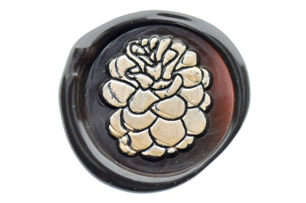 Pinecone Wax Seal Stamp - Wax Seal Stamp - Backtozero