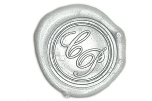 Script Double Initials Wax Seal Stamp - Wax Seal Stamp - Backtozero