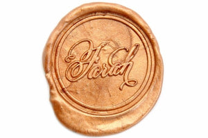 Personalized Swirl Calligraphy Wax Seal Stamp - Wax Seal Stamp - Backtozero