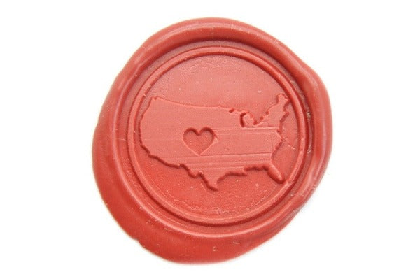 Heart USA Wax Seal Stamp - Wax Seal Stamp - Backtozero