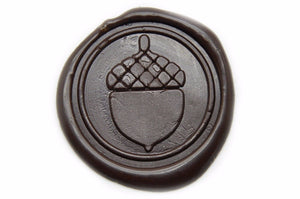 Acorn Wax Seal Stamp | Available in 4 Sizes - Wax Seal Stamp - Backtozero