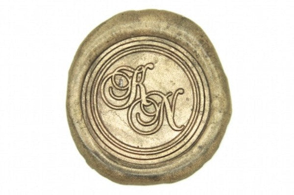 Double Script Initials Wax Seal Stamp - Wax Seal Stamp - Backtozero