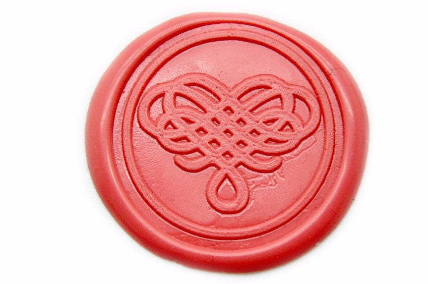 Filigree Heart Wax Seal Stamp | Available in 4 Sizes, Backtozero  - 1