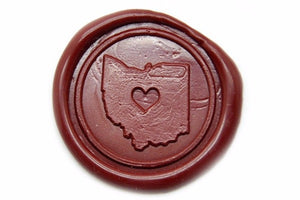 Heart your State Wax Seal Stamp, Backtozero  - 2