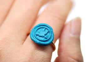 OOAK Dove Wax Seal Ring - Wax Seal Ring - Backtozero
