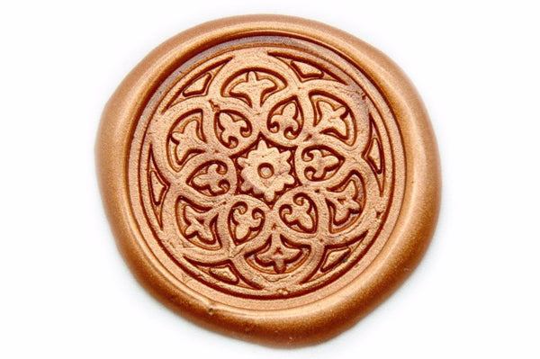 Damask Kaleidoscope Wax Seal Stamp, Backtozero  - 1