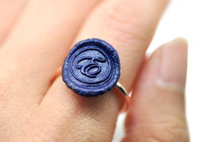 OOAK Script Initial Wax Seal Ring - Wax Seal Ring - Backtozero