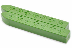 Grass Green Non-Wick Fleur Sealing Wax Stick - Sealing Wax - Backtozero