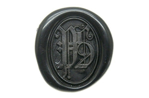 Gothic Double Initials Wax Seal Stamp - Wax Seal Stamp - Backtozero