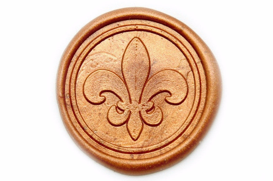 Fleur de Lis Wax Seal Stamp | Available in 4 Sizes, Backtozero  - 1