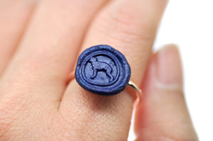 OOAK Greyhound Wax Seal Ring - Wax Seal Ring - Backtozero