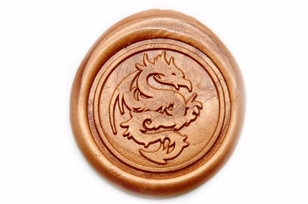 Dragon Wax Seal Stamp | Available in 4 Sizes, Backtozero  - 1