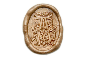 Decorative Initial Wax Seal Stamp - Wax Seal Stamp - Backtozero