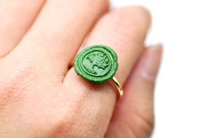 OOAK Tree of Life Wax Seal Ring - Wax Seal Ring - Backtozero