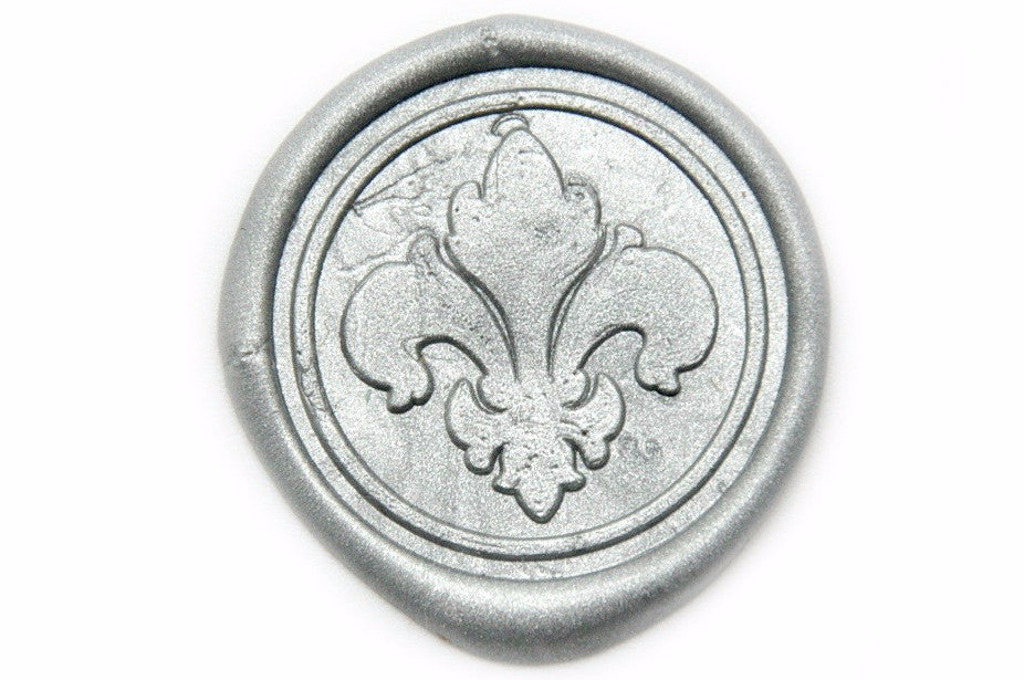 Filigree Fleur de Lis Wax Seal Stamp, Backtozero  - 2