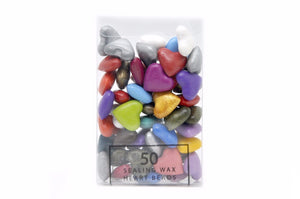 Mixed Color Sealing Wax Heart Bead - Sealing Wax - Backtozero