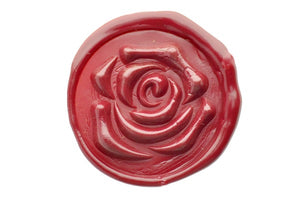 3D Rose Wax Seal Stamp - Wax Seal Stamp - Backtozero