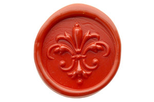 3D Fleur de Lis Wax Seal Stamp - Wax Seal Stamp - Backtozero