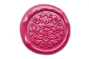 Floral Deco Wax Seal Stamp - Wax Seal Stamp - Backtozero