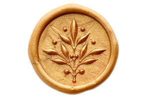 3D Olive Branch Wax Seal Stamp - Wax Seal Stamp - Backtozero