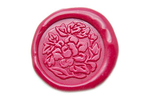 Rose Wax Seal Stamp - Wax Seal Stamp - Backtozero