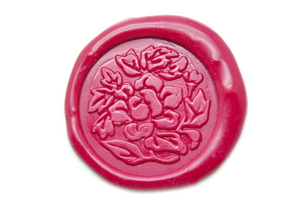 Rose Flower Floral Wax Seal Stamp Backtozero Signature Sesal