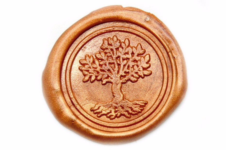 Tree of Life Wax Seal Stamp | Available in 4 Sizes, Backtozero  - 1