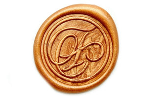Suzanne Cunningham Calligraphy F Wax Seal Stamp | Available in 4 Sizes - Wax Seal Stamp - Backtozero