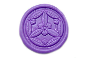 Japanese Kamon Floral Deco Wax Seal Stamp - Wax Seal Stamp - Backtozero