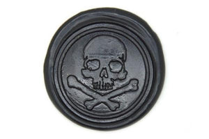 Pirate Skull Bone Wax Seal Stamp - Wax Seal Stamp - Backtozero