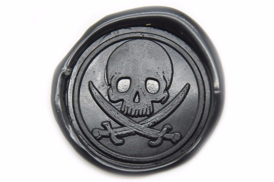 Pirate Skull Sword Wax Seal Stamp, Backtozero  - 2