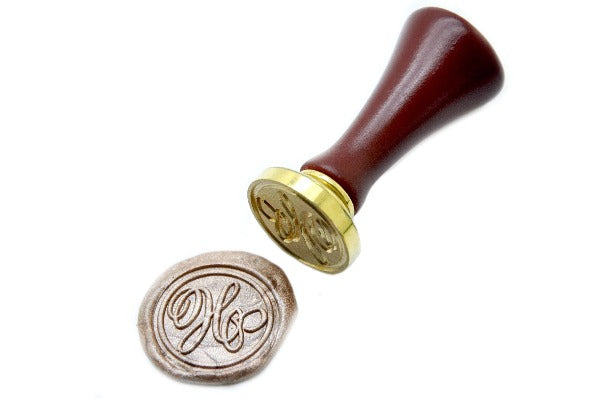 Suzanne Cunningham Calligraphy Initial Wax Seal Stamp, Backtozero  - 1