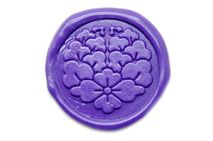 Japanese Kamon Hanabishi Floral Deco Wax Seal Stamp - Wax Seal Stamp - Backtozero