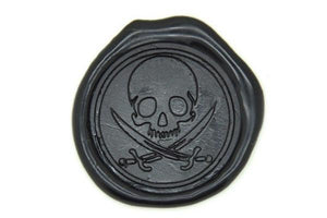 Pirate Skull Sword Wax Seal Stamp - Wax Seal Stamp - Backtozero