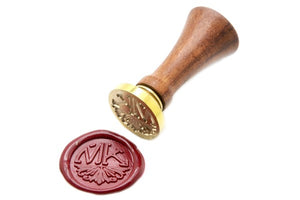 Semicircular Deco Double Initials Wax Seal Stamp - Wax Seal Stamp - Backtozero