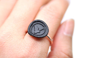 OOAK Bat Wax Seal Ring - Wax Seal Ring - Backtozero