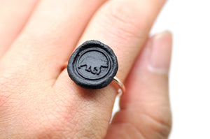 OOAK Bear Wax Seal Ring - Wax Seal Ring - Backtozero
