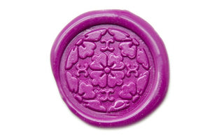 Japanese Kamon Hanakaku Floral Deco Wax Seal Stamp - Wax Seal Stamp - Backtozero