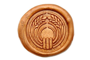 Japanese Kamon Ine Rice Wax Seal Stamp - Wax Seal Stamp - Backtozero