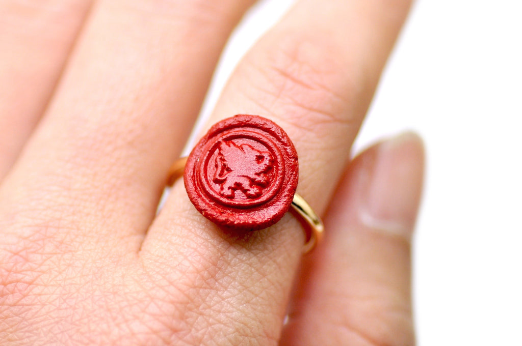 OOAK Griffin Wax Seal Ring - Wax Seal Ring - Backtozero