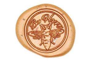 Bee Happy Wax Seal Stamp - Wax Seal Stamp - Backtozero