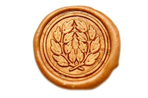 Japanese Kamon Laurel Wreath Wax Seal Stamp - Wax Seal Stamp - Backtozero