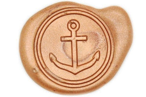 Skinny Anchor Wax Seal Stamp - Wax Seal Stamp - Backtozero