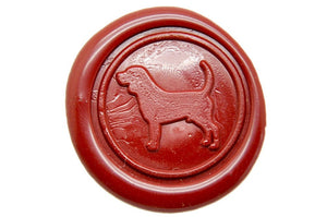 Beagle Wax Seal Stamp | Available in 4 Sizes - Backtozero